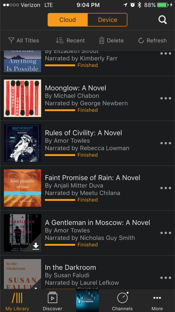 Audio Books, Audiobook Faves