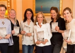 "Jeanne M. Blasberg, author of ""Eden"", and friends at book club"