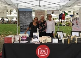 Jeanne with She Writes Press authors at the Brooklyn Book Festival