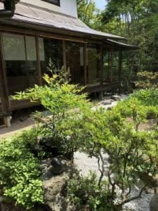 A house and garden in Japan