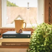 morning-ritual-coffee-writing-book-stack-plant-window