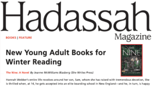 jeanne-blasberg-the-nine-hadassah-magazine-young-adult-fiction-books-roundup