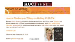 jeanne-mcwilliams-blasberg-interview-the-nine-novel-writers-on-writing-radio